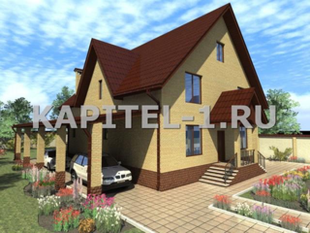 Проект комфортного двухтажного загородного дома 17х16м