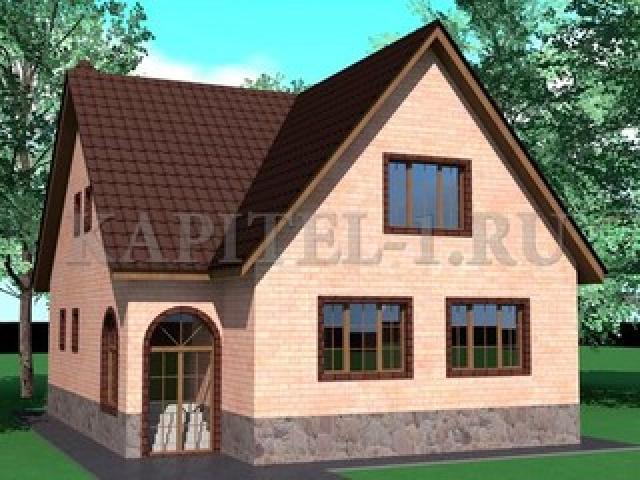 Проект дома 10х15м с мансардным этажом
