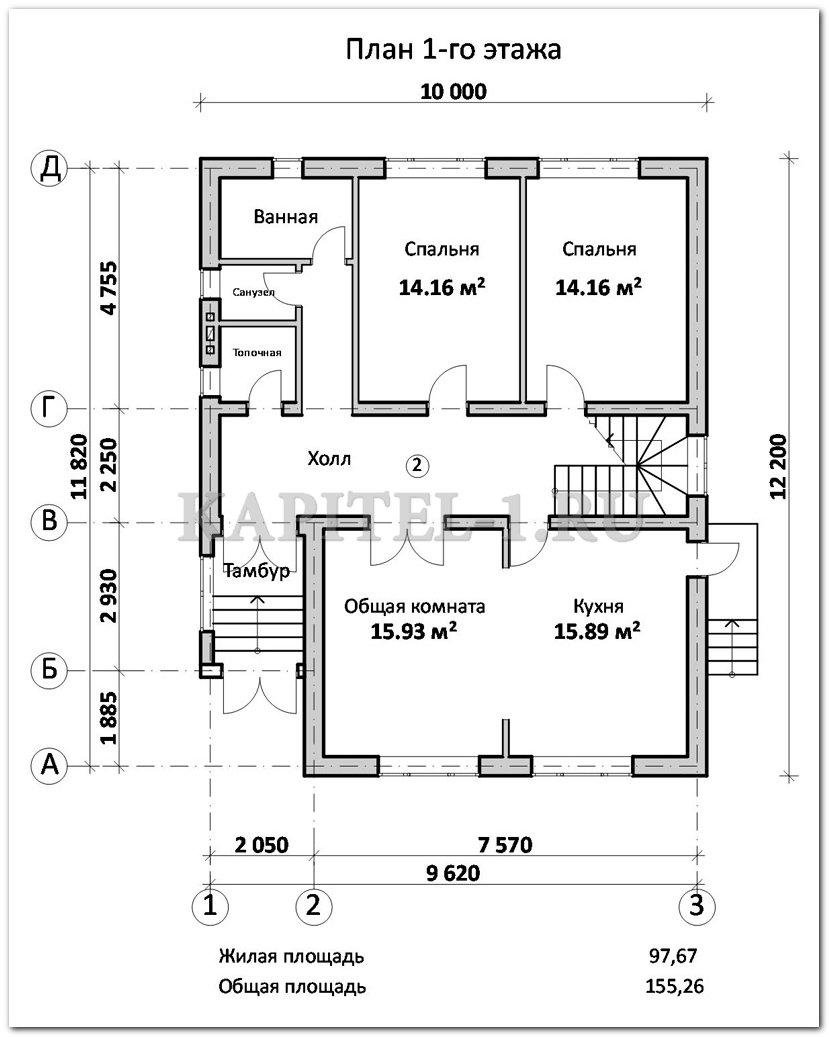 Первый этаж дома