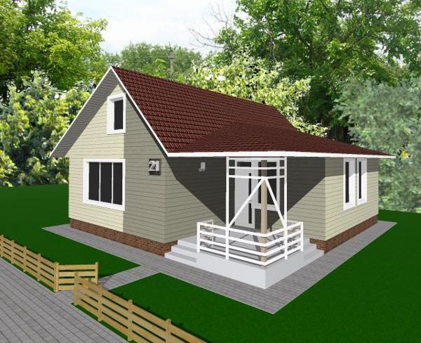 Проект дешёвого дома - внешний вид дома после трансформации