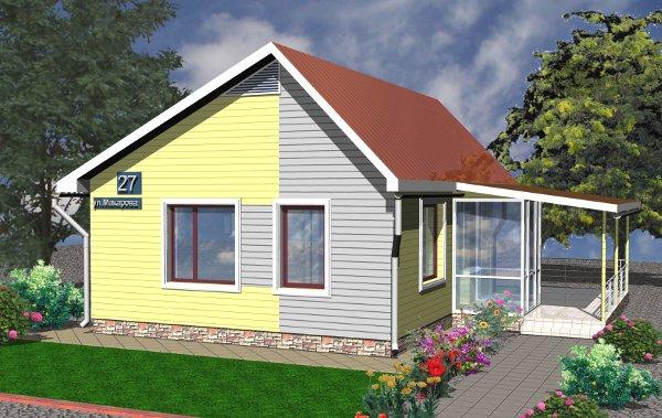Проект дешёвого дома - внешний вид