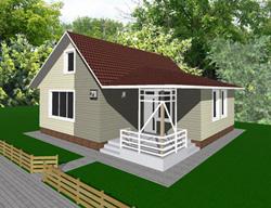 Самый дешёвый дом вариант 2